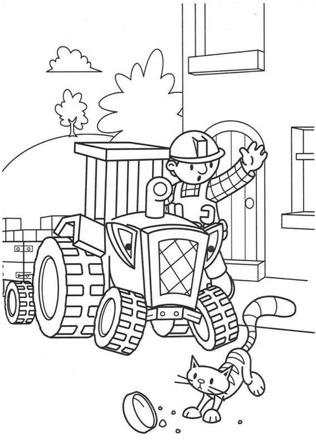 bob the builder coloring page free printable bob the builder coloring pages for kids coloring page the bob builder