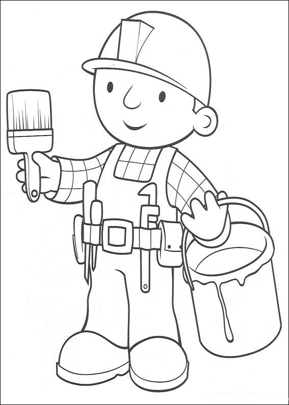 bob the builder coloring page story of a diligent builder bob the builder 20 bob the bob coloring builder the page