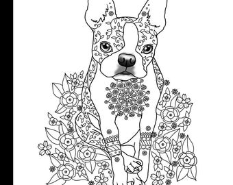 boston terrier coloring page christmas boston terrier coloring page coloring pages coloring terrier page boston