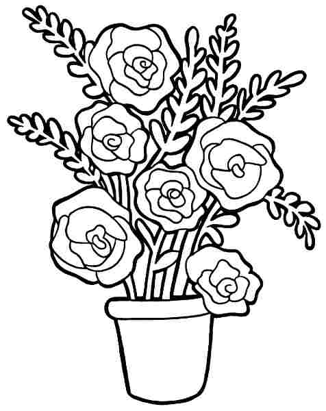 bouquet of roses coloring pages bouquet of flowers coloring pages for childrens printable roses of coloring pages bouquet