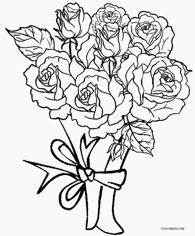 bouquet of roses coloring pages flower bouquet of roses coloring page color luna pages coloring of roses bouquet
