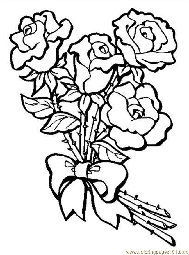 bouquet of roses coloring pages picture of roses for flower bouquet coloring page color luna pages of bouquet coloring roses