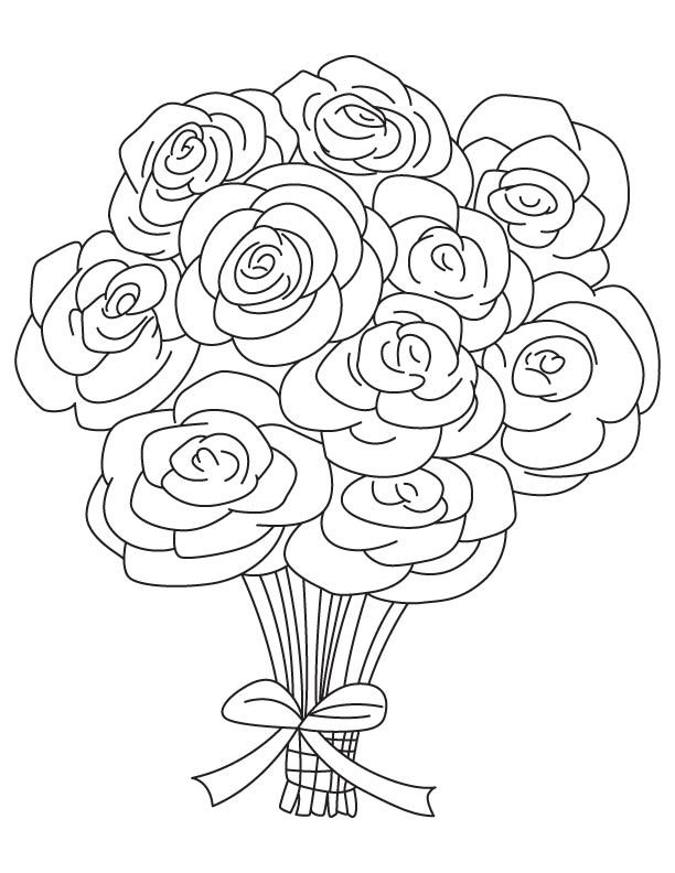 bouquet of roses coloring pages printable rose coloring pages for kids cool2bkids rose bouquet of roses coloring pages