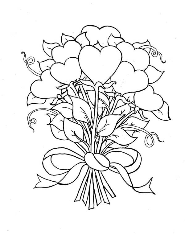 bouquet of roses coloring pages rose bouquet coloring page of roses pages bouquet coloring