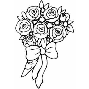 bouquet of roses coloring pages roses bouquet with bow coloring sheet pages roses of bouquet coloring