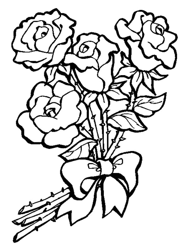 bouquet of roses coloring pages s bouquet of rosespreview coloring page free flowers of pages roses bouquet coloring