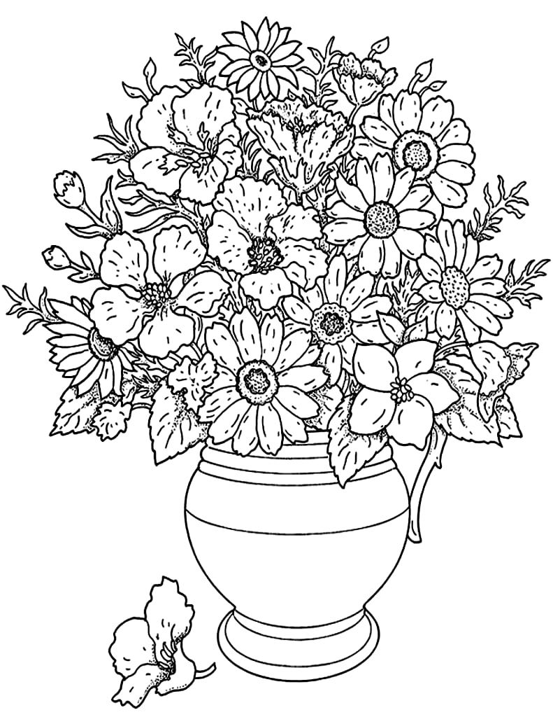 bouquet of roses coloring pages stock vector flower coloring pages flower vases roses bouquet of coloring pages