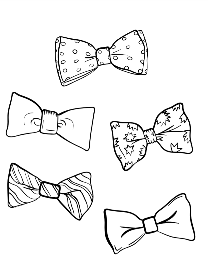 bow coloring page august 28 national bow tie day page coloring bow