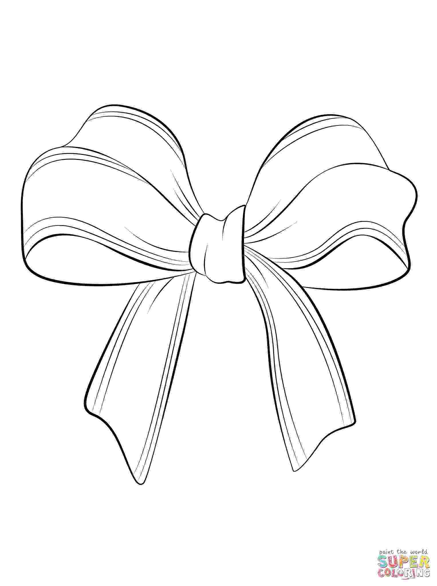 bow coloring page hair bow drawing at getdrawingscom free for personal bow page coloring