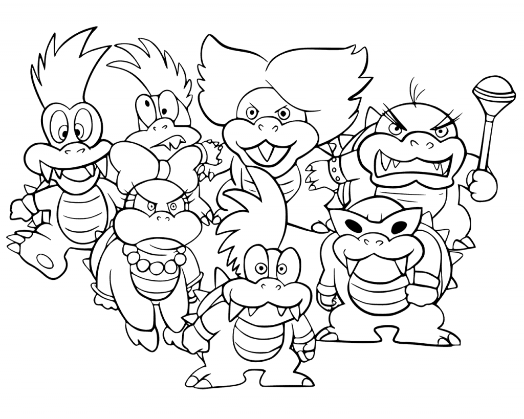 bowser coloring page bowser coloring pages best coloring pages for kids bowser coloring page