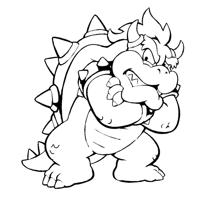 bowser coloring page bowser jr drawing at getdrawingscom free for personal bowser page coloring
