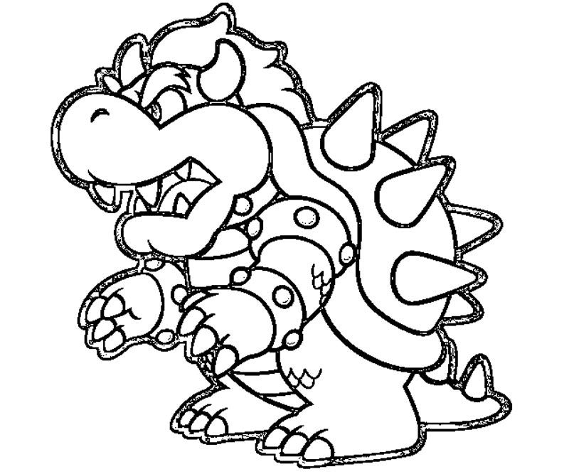 bowser coloring page coloring page of bowser junior coloring home coloring bowser page