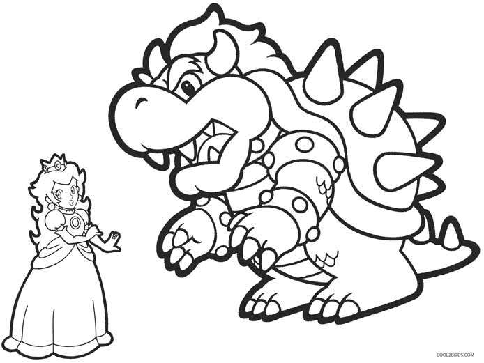 bowser coloring page printable princess peach coloring pages for kids cool2bkids page bowser coloring