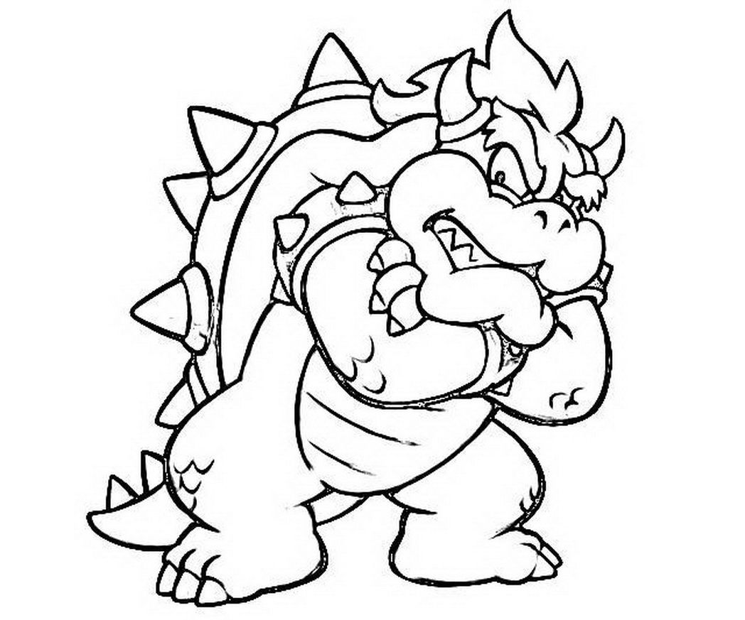 bowser coloring page super mario land bowser cocky dragon coloring 590435 bowser page coloring