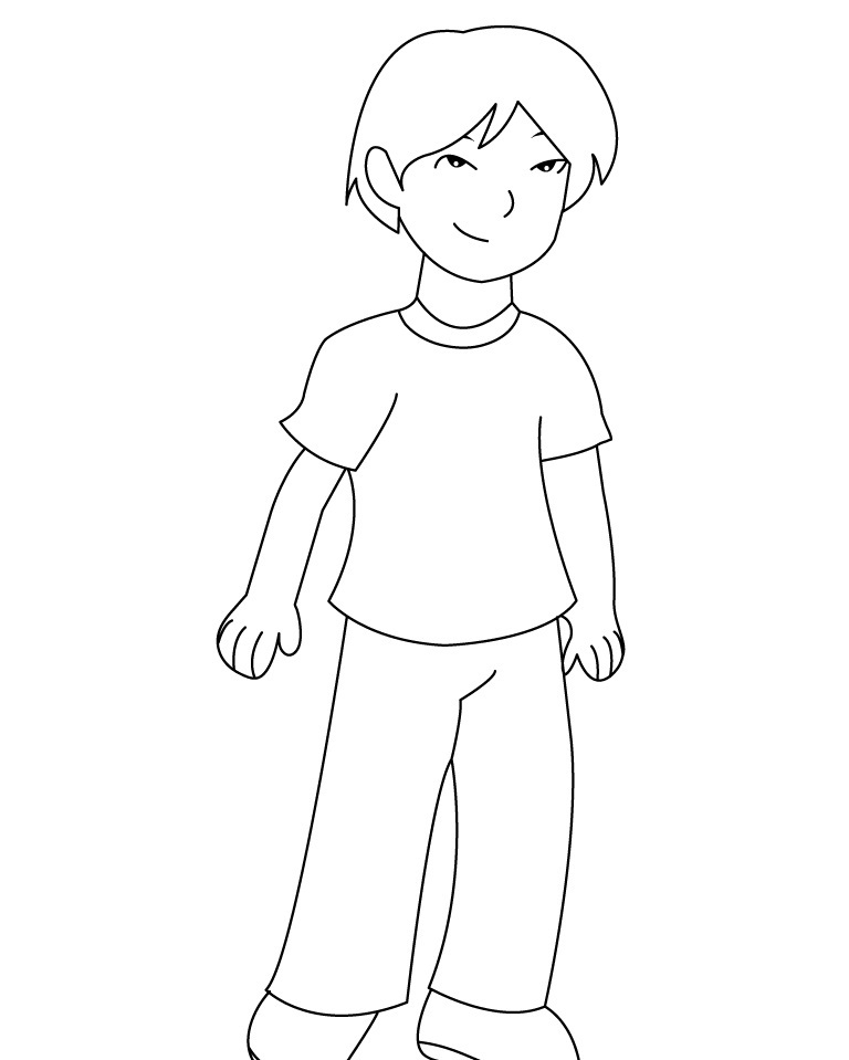 boy coloring page free printable boy coloring pages for kids coloring boy page