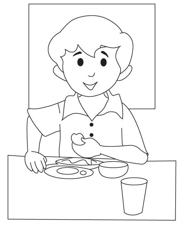 breakfast coloring page breakfast coloring pages download and print for free breakfast page coloring