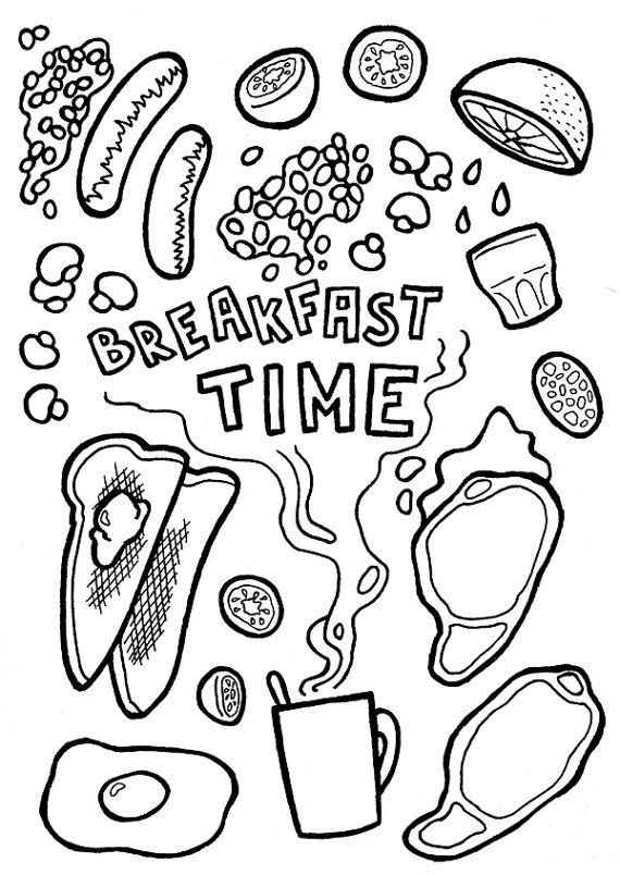 breakfast coloring page breakfast coloring pages download and print for free page coloring breakfast