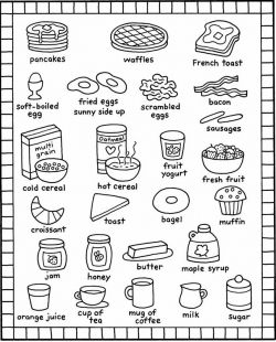 breakfast coloring page breakfast coloring pages kids recipes books food and breakfast page coloring