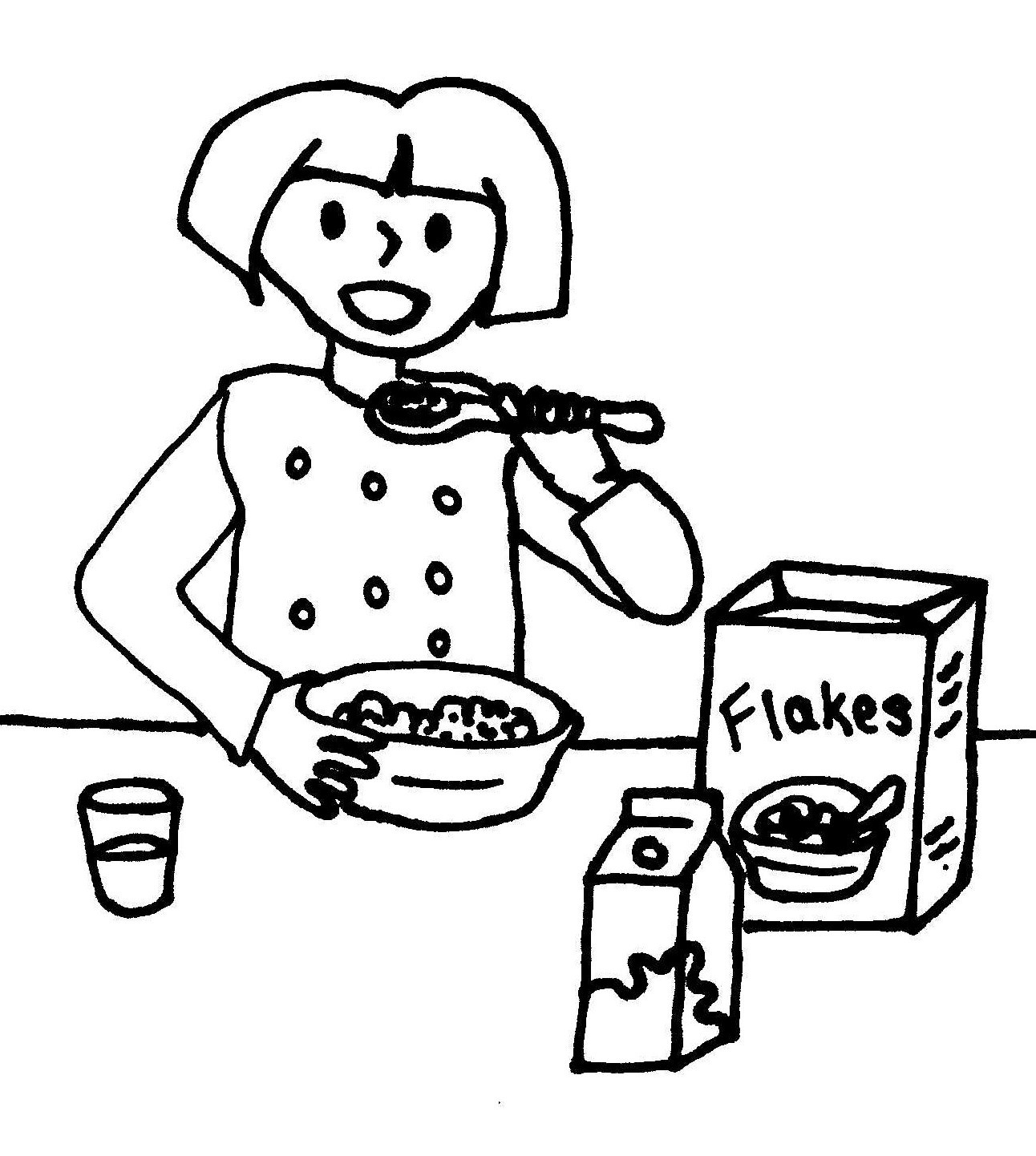 breakfast coloring page breakfast of bacon and eggs clip art at clkercom vector coloring breakfast page
