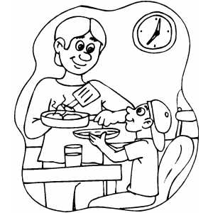 breakfast coloring page stylist design breakfast coloring page pages duck have breakfast page coloring