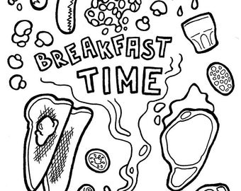 breakfast coloring page the hometrain social skills blog free activity a week coloring breakfast page