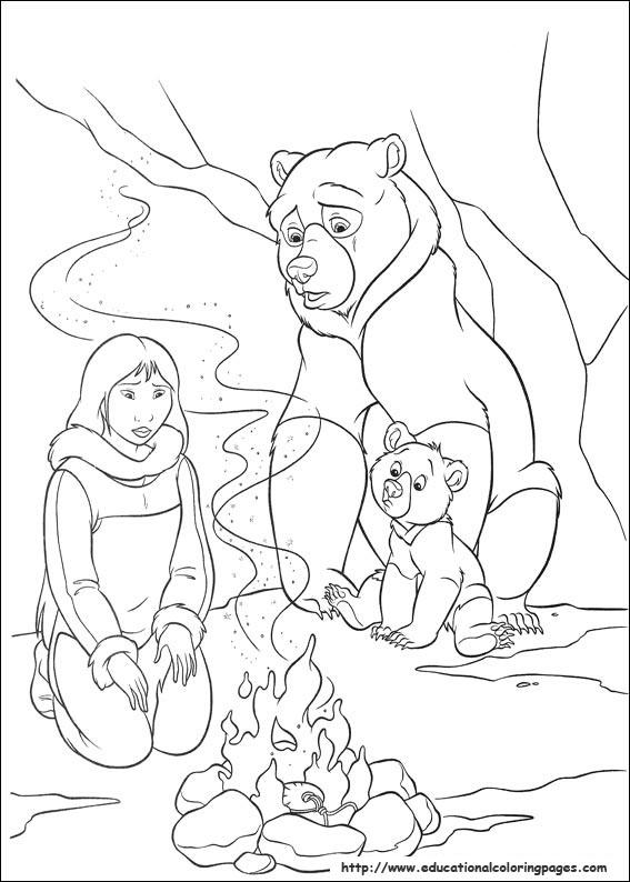 brother bear 2 coloring pages brother bear 2 coloring pages coloringpagesabccom 2 bear coloring brother pages