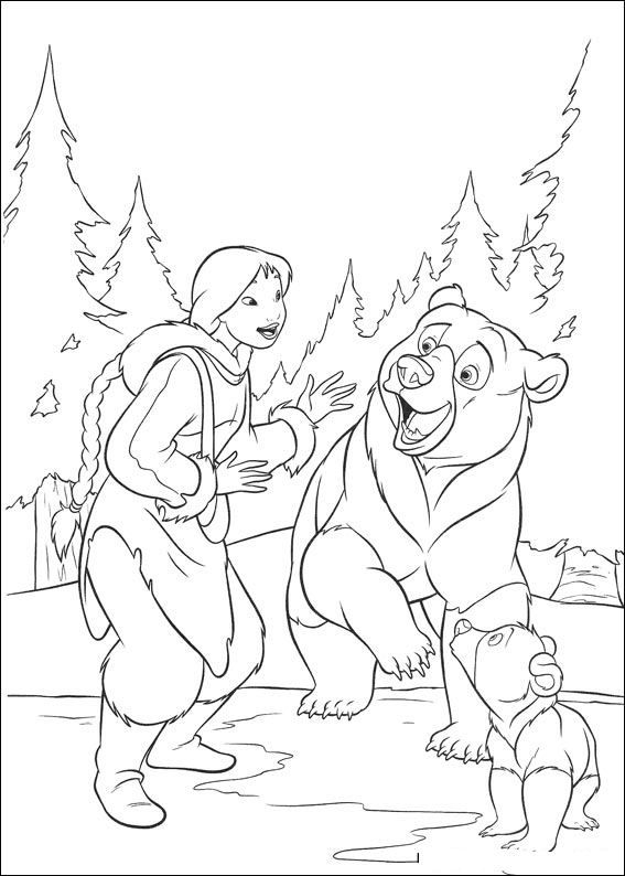 brother bear 2 coloring pages kids n funcom 58 coloring pages of brother bear 2 bear 2 brother pages coloring