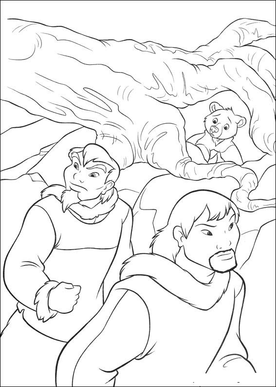 brother bear 2 coloring pages kleurplaat brother bear 2 brother bear 2 kleurplaten 2 bear coloring brother pages