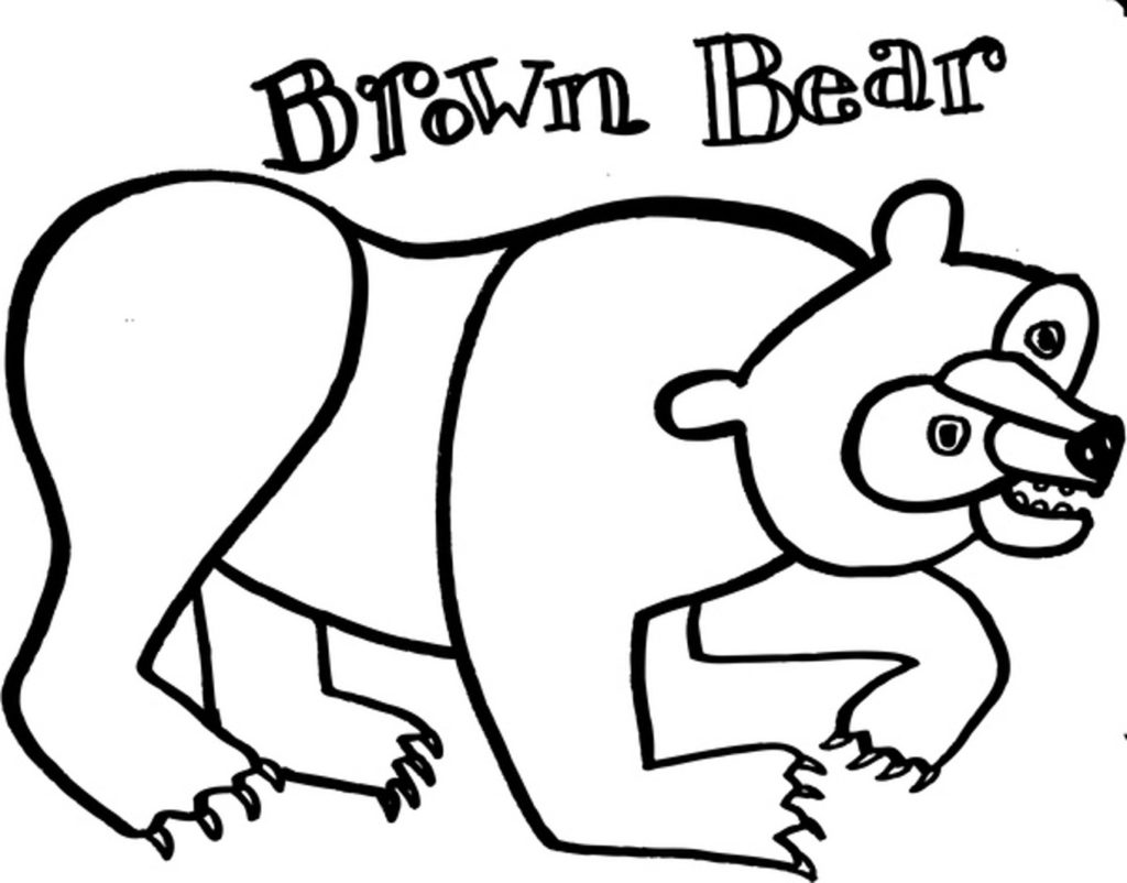 brown bear coloring pages printable brown bear brown bear coloring activity by courtney coloring printable brown bear pages