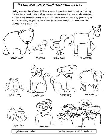brown bear coloring pages printable brown bear minibook pages coloring printable bear brown