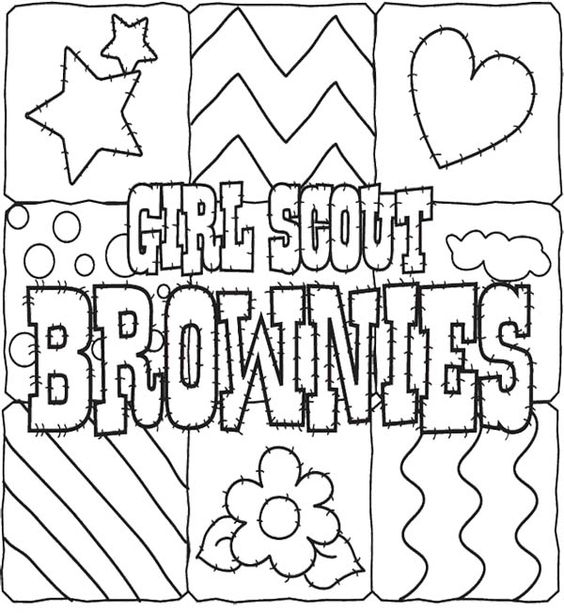 brownie coloring pages printable girl scout cookies coloring pages for kids gs coloring brownie coloring printable pages