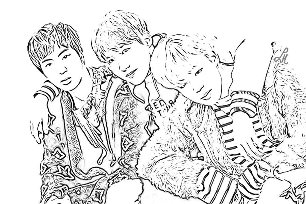 bts coloring page bts coloring pages army39s amino coloring bts page 1 1
