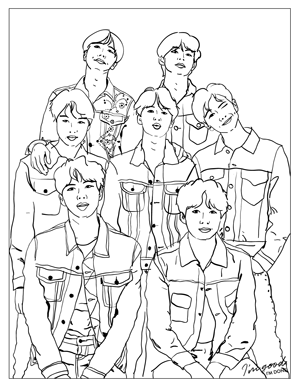 bts coloring page bts kpop coloring pages coloring pages coloring page bts