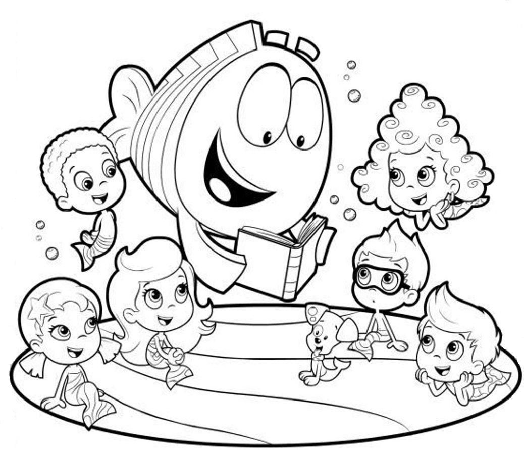 bubble guppies coloring pages bubble guppies coloring pages 9 página para colroear de coloring guppies pages bubble