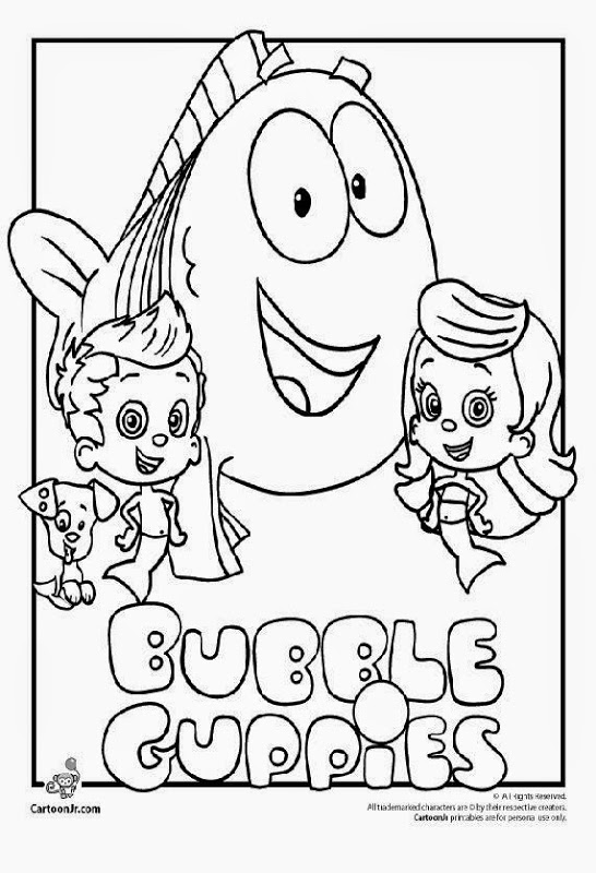 bubble guppies coloring pages bubble guppies coloring pages pages guppies bubble coloring