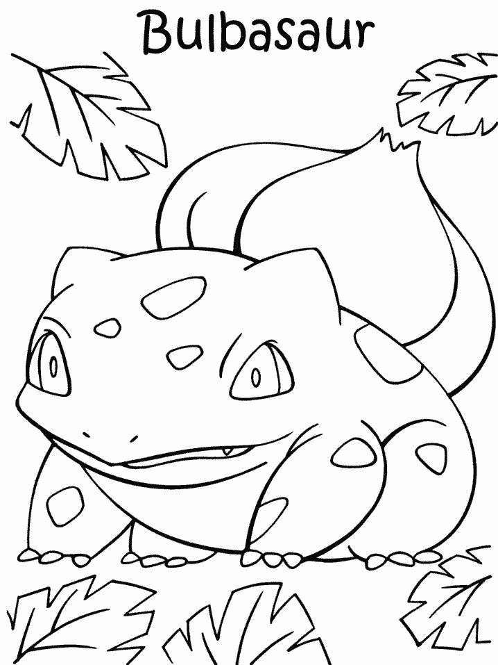 bulbasaur coloring page bulbasaur coloring pages free pokemon coloring pages bulbasaur coloring page