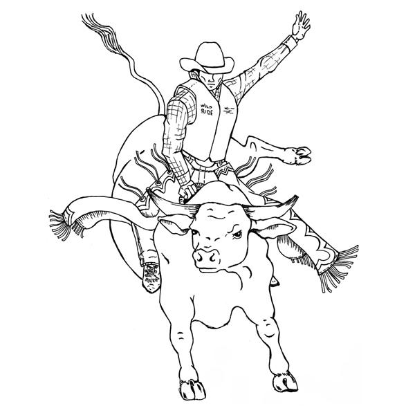 bull riding coloring pages bucking bull rubber stamp sku g469 bull riding pages coloring