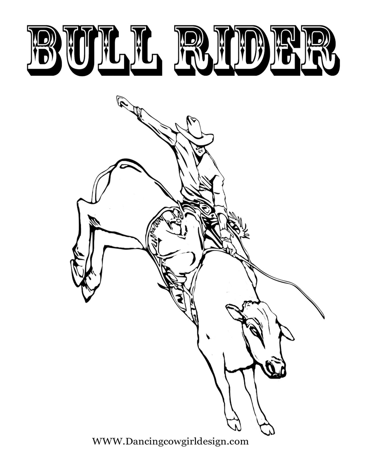bull riding coloring pages bull coloring pages getcoloringpagescom coloring riding bull pages