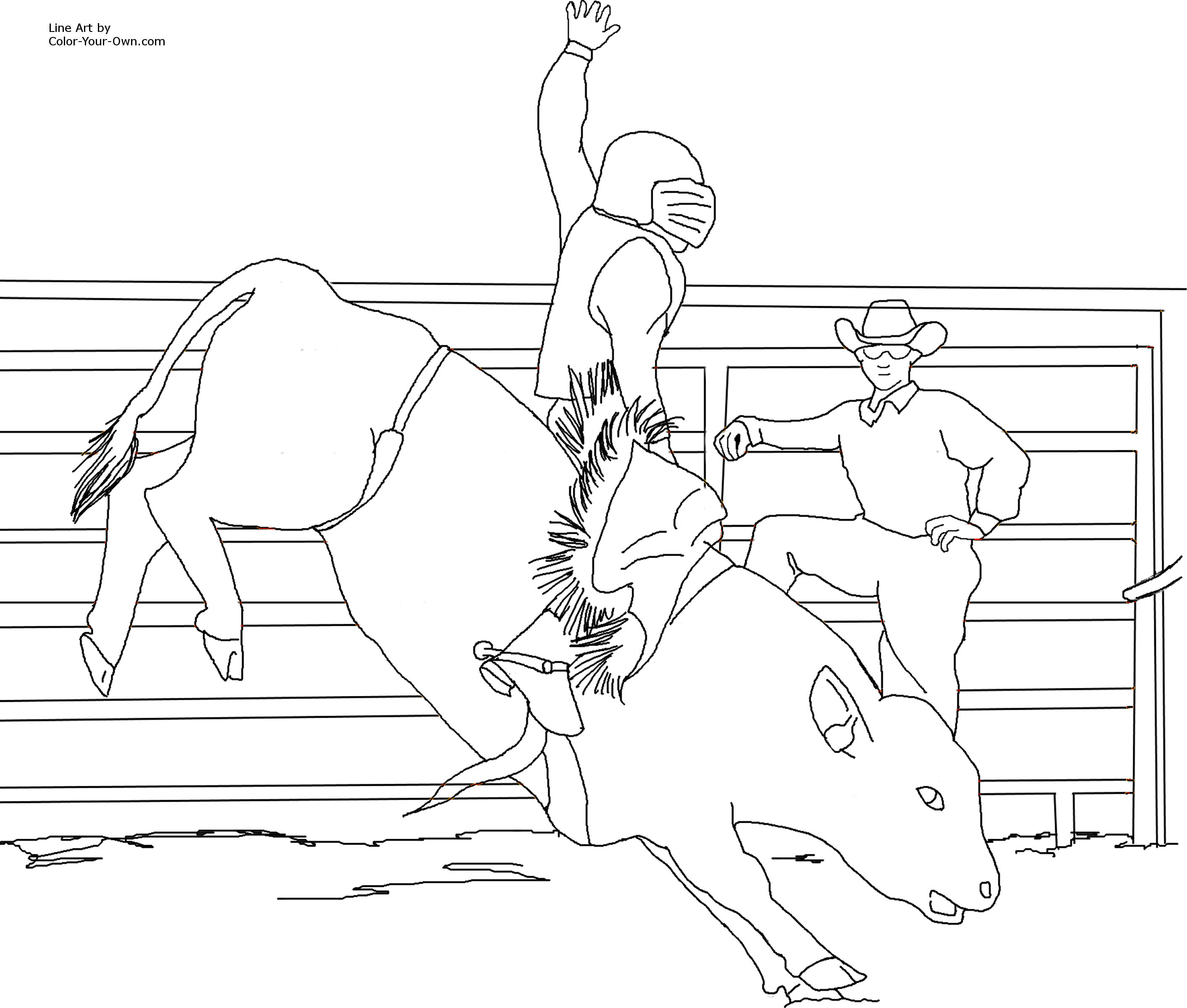 bull riding coloring pages bull riding rodeo coloring page free printable coloring riding bull coloring pages