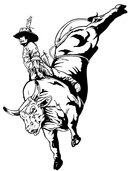 bull riding coloring pages rodeo bull rider coloring page free printable coloring pages bull coloring pages riding