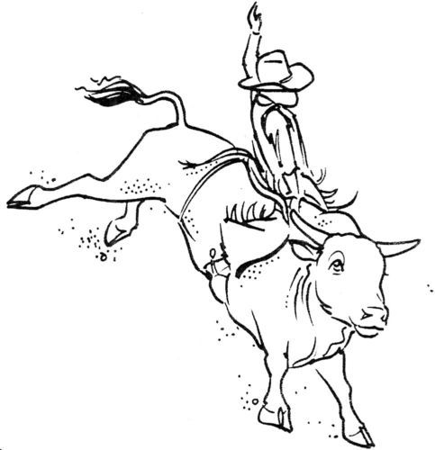 bull riding coloring pages unmounted rubber stamps western bull riding set cowboys bull riding pages coloring