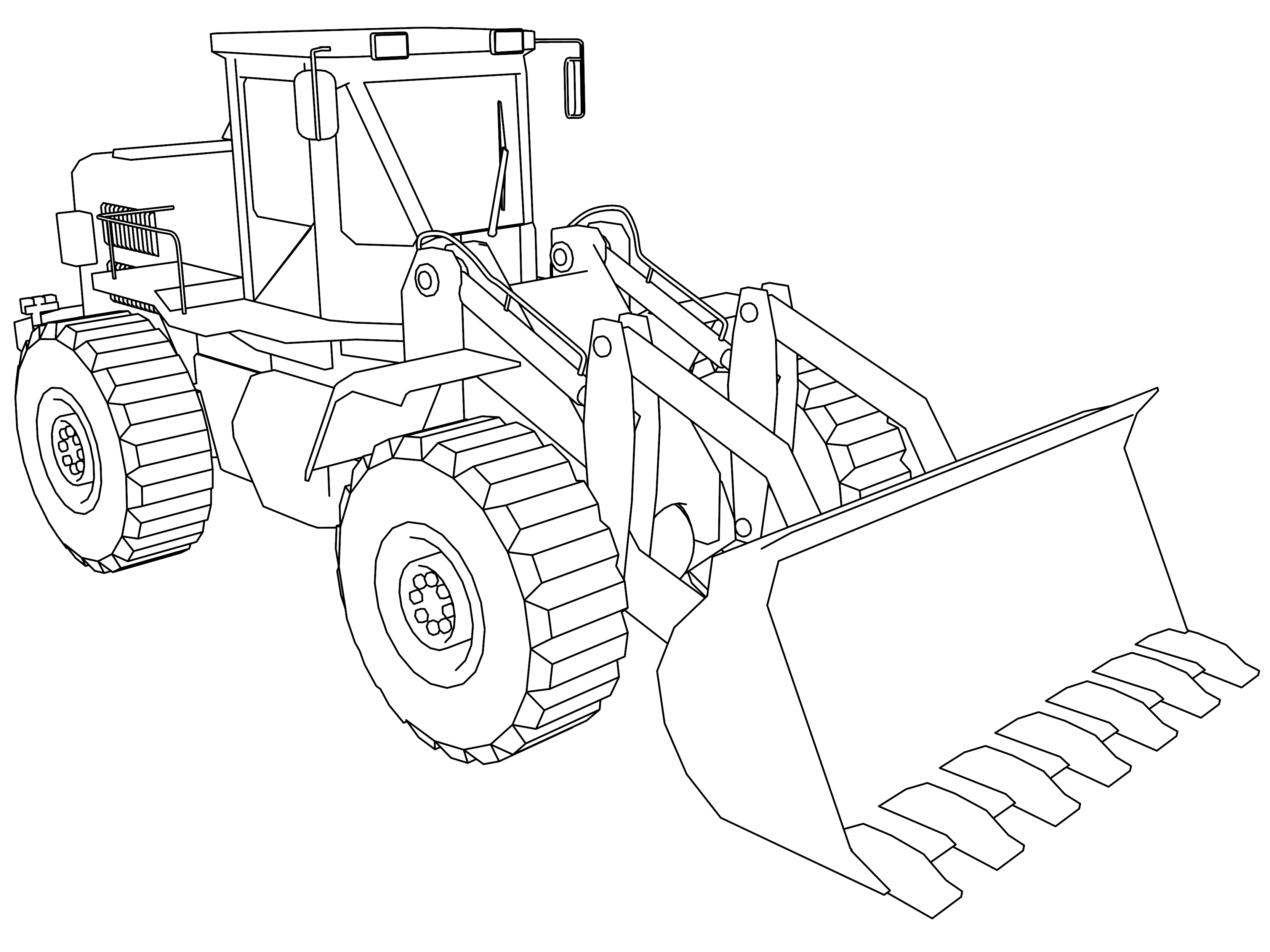 bulldozer pictures to color best stone shovel bulldozer coloring page wecoloringpagecom color to bulldozer pictures