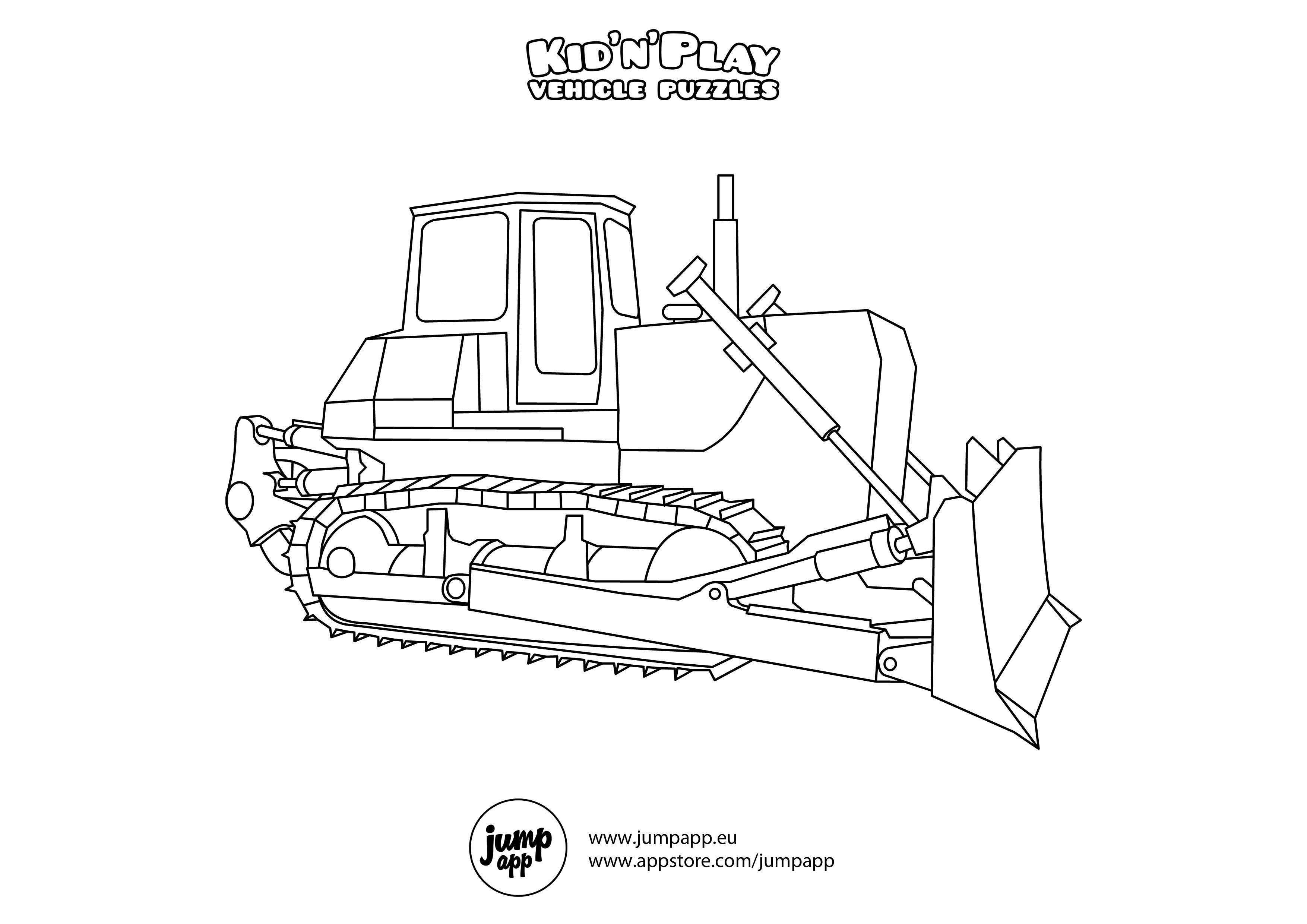 bulldozer pictures to color bulldozer coloring page coloring funs bulldozer pictures to color