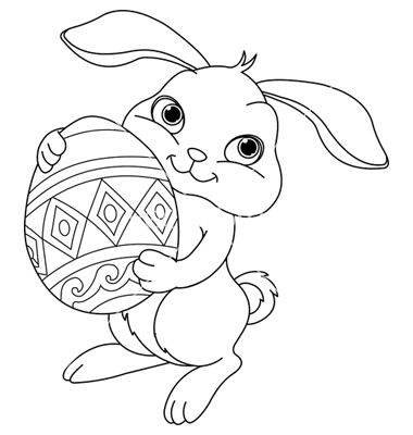 bunny pictures to color easter bunny coloring page vector easter bunny colouring color pictures to bunny