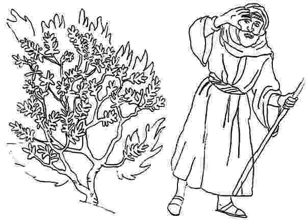 burning bush coloring page burning bush coloring page sundayschoolist page coloring bush burning
