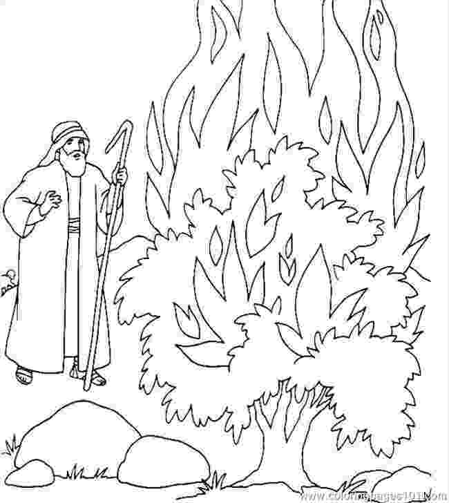 burning bush coloring page burning bush moses netart bush page coloring burning