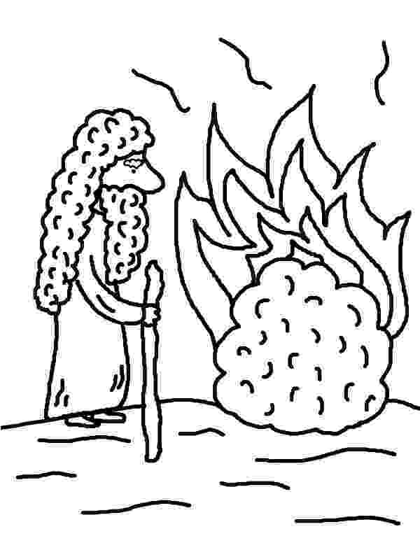 burning bush coloring page burning bush moses netart coloring bush burning page