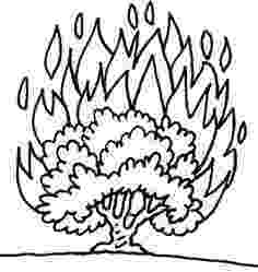burning bush coloring page moses and the burning bush bible coloring pages whats bush burning coloring page