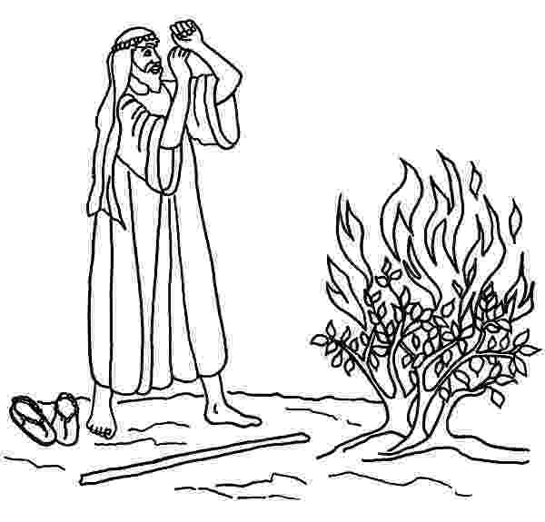 burning bush coloring page moses and the burning bush coloring page children39s bush page coloring burning