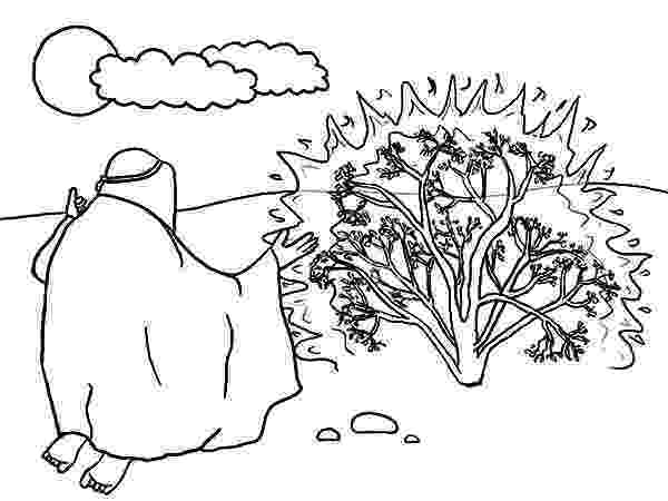 burning bush coloring page moses burning bush coloring page w verse sunday school burning coloring bush page